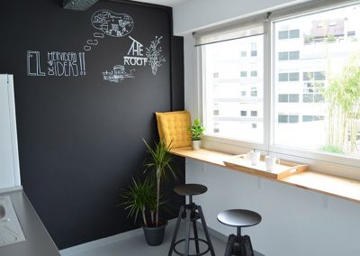 office-cocina-coworking-the-roof-coruña